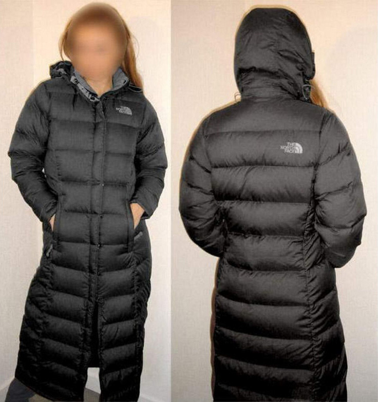 aa4473cf15 ... authentic the north face triple c down coat black shiny nylon ad216  7f26b