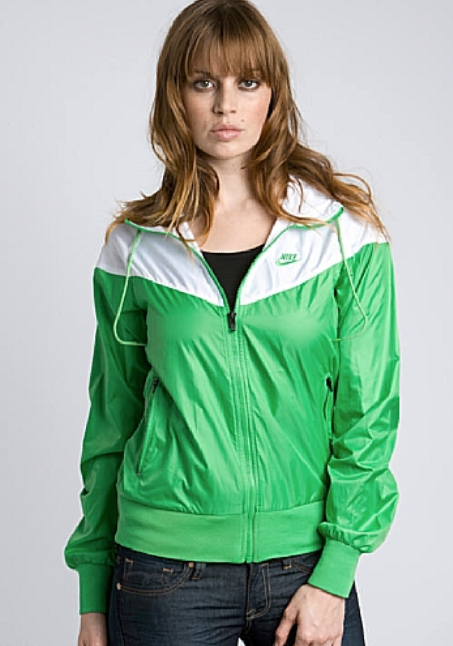 "46369866a0 Nike ""Windrunner"" rain jacket – green white"