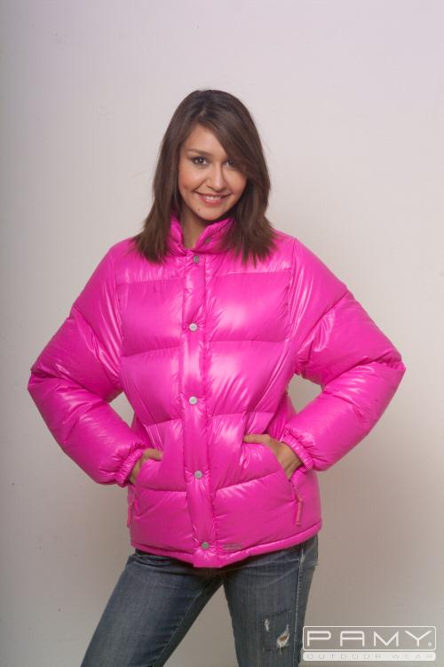 Pink Down Jacket - JacketIn