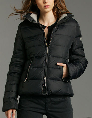 black marc o polo down jacket shiny nylon. Black Bedroom Furniture Sets. Home Design Ideas