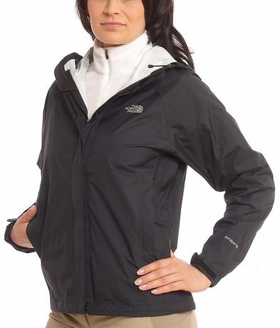Black The North Face Venture Rain Jacket Shiny Nylon