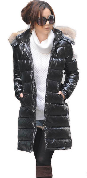 "Black Moncler ""Mokacine"" down coat"