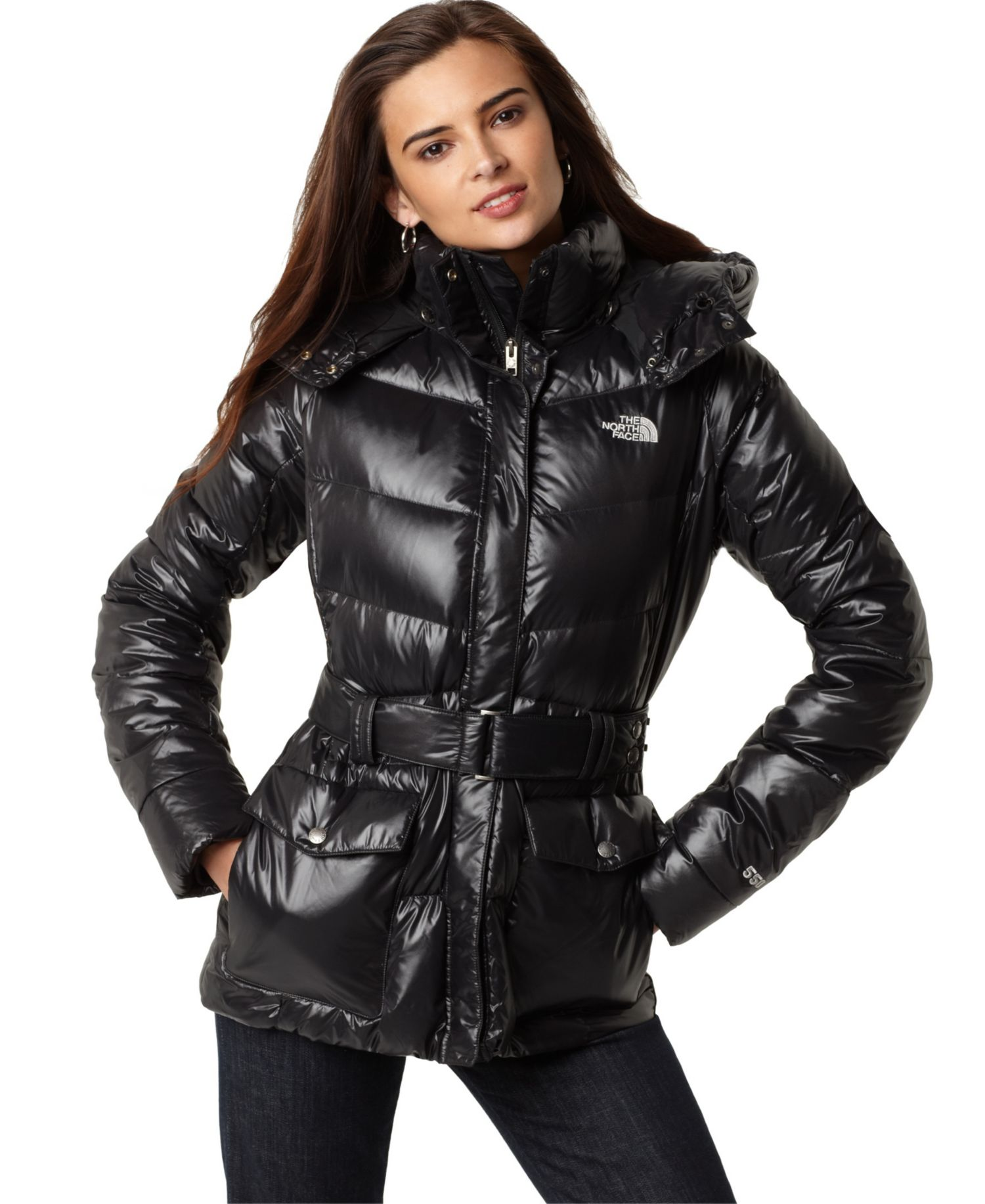 black the north face menlo down coat shiny nylon. Black Bedroom Furniture Sets. Home Design Ideas