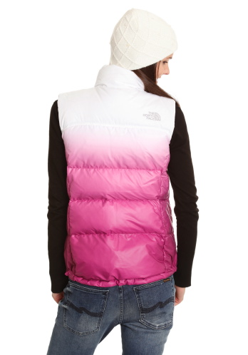 "7fa359691 Pink The North Face ""Novelty Nuptse"" down vest 