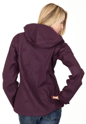 "Purple The North Face ""Medusa"" hooded rain jacket 