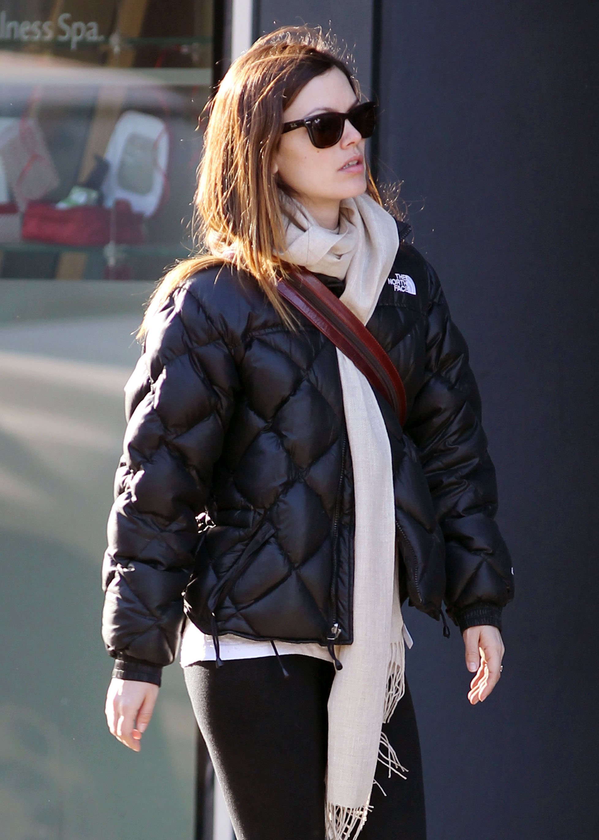 North face puffer jacket on celebrity