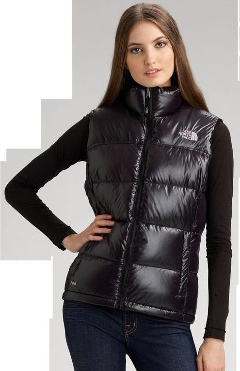 black the north face novelty nuptse down vest shiny nylon. Black Bedroom Furniture Sets. Home Design Ideas
