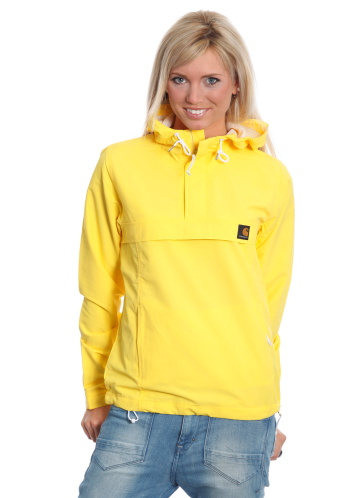 "Yellow hooded Carhartt ""Nimbus"" rain jacket 