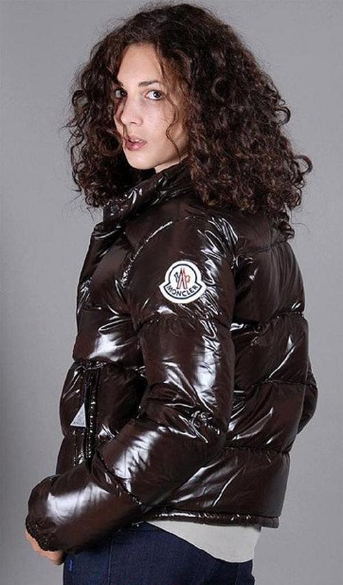 10a3ef8165793f Brown Moncler down jacket | SHINY NYLON