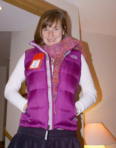 "Pink The North Face ""Nuptse"" down vest"