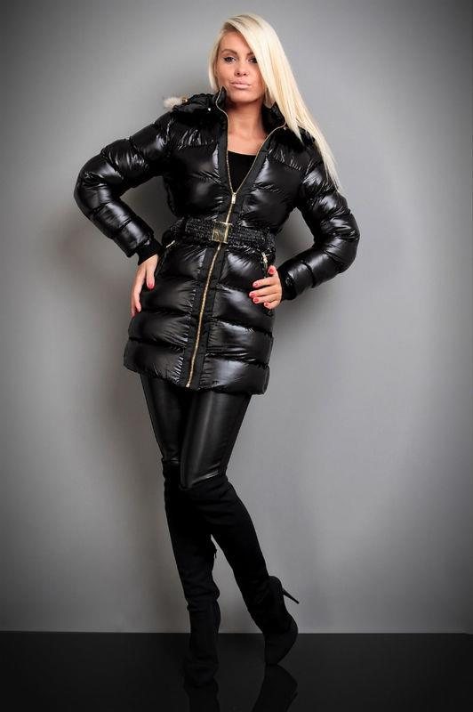 c28c52da26ee Black Jolina down coat   SHINY NYLON