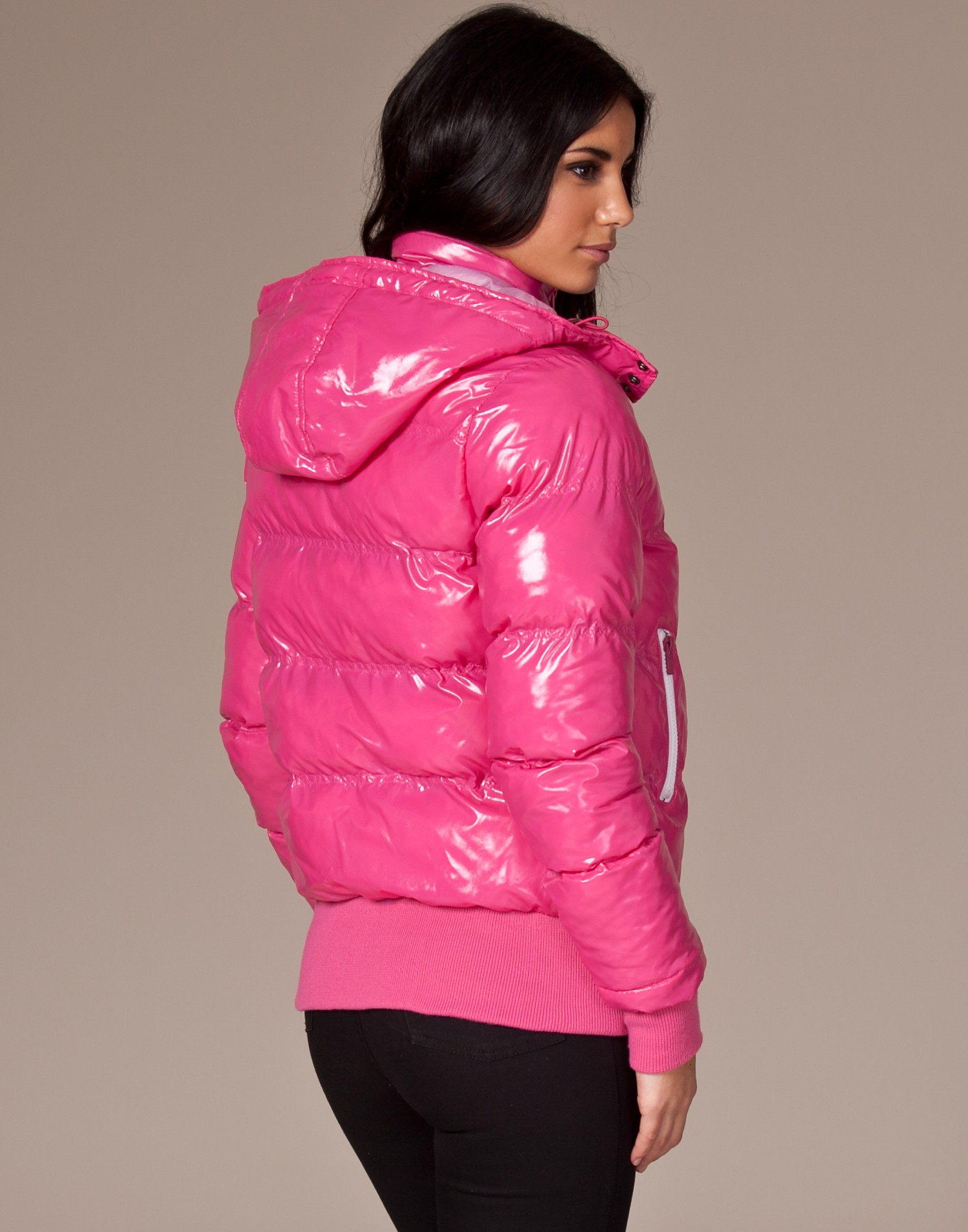 Pink Sexy By Sweden Sexy W Down Jacket Shiny Nylon