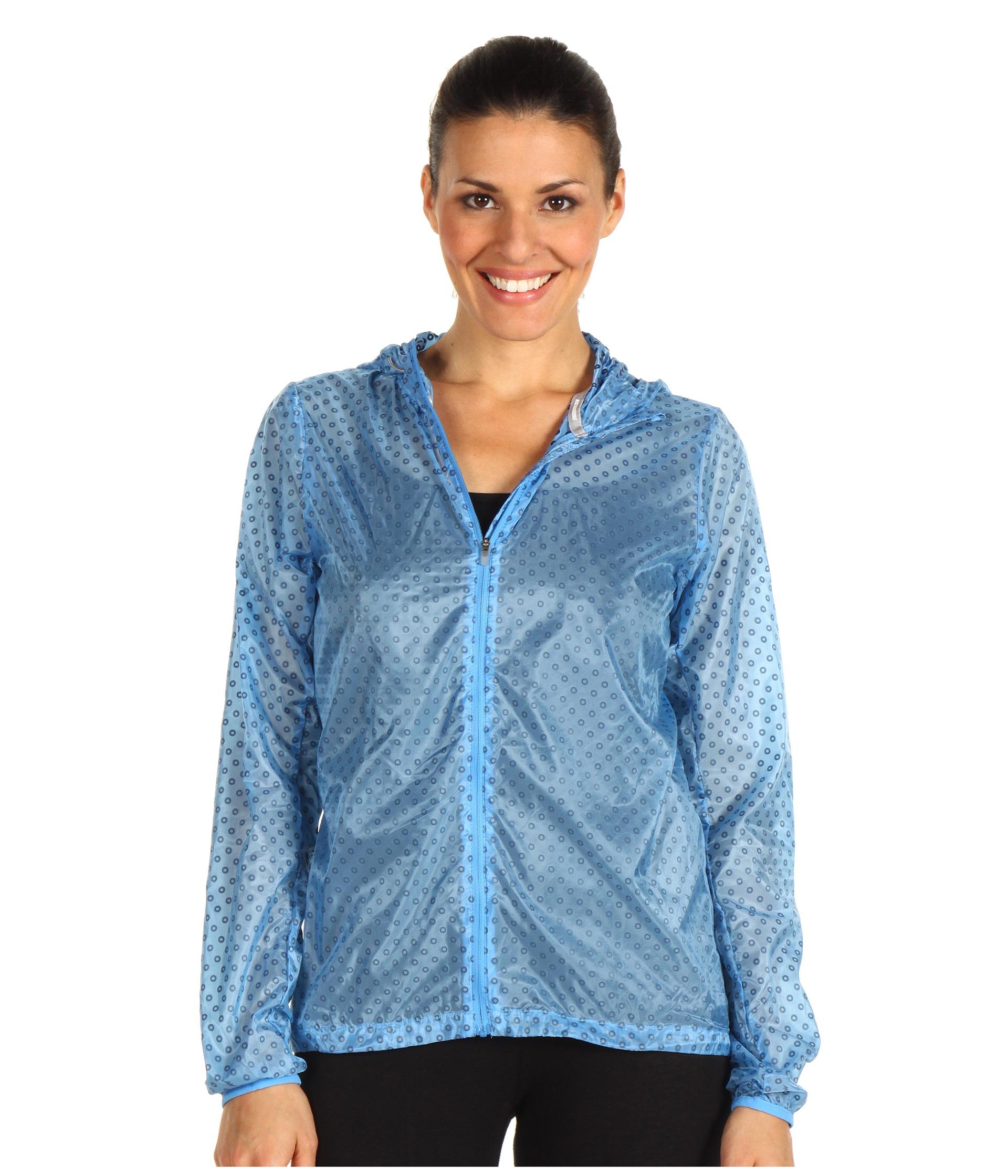 Blue Nike 'Cyclone' rain jacket | SHINY NYLON