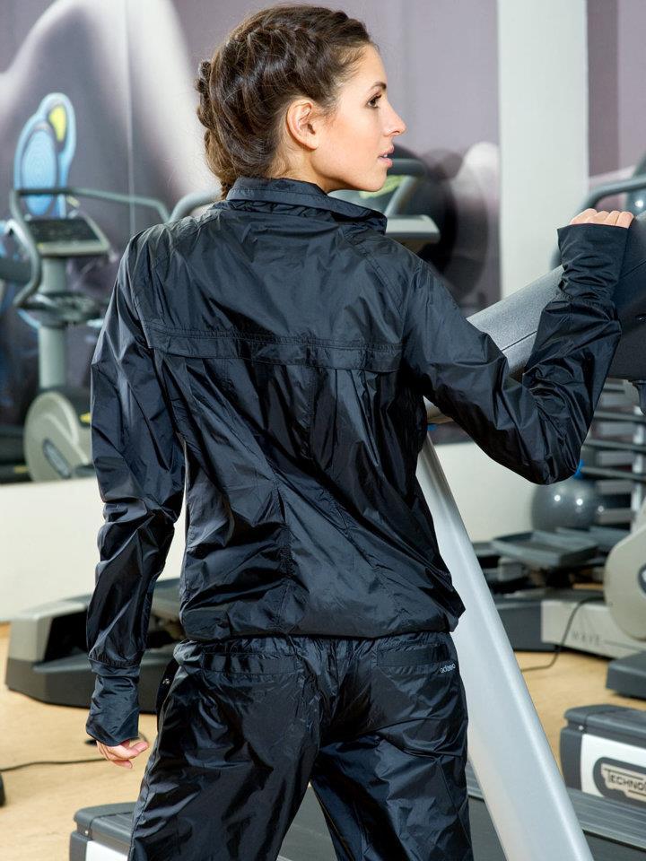 Black Adidas Rain Jacket Shiny Nylon