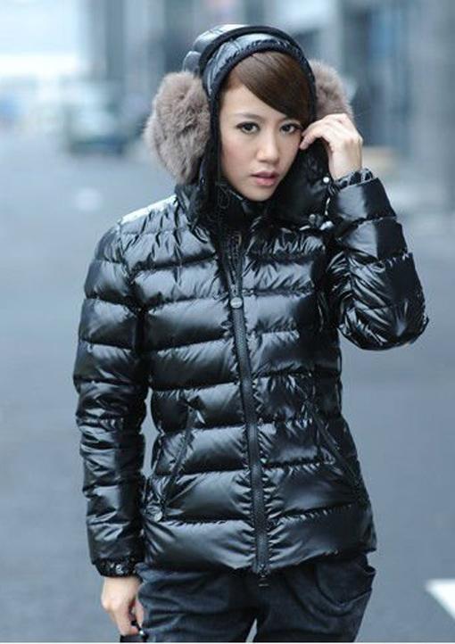 Black Eiderdown down jacket | SHINY NYLON