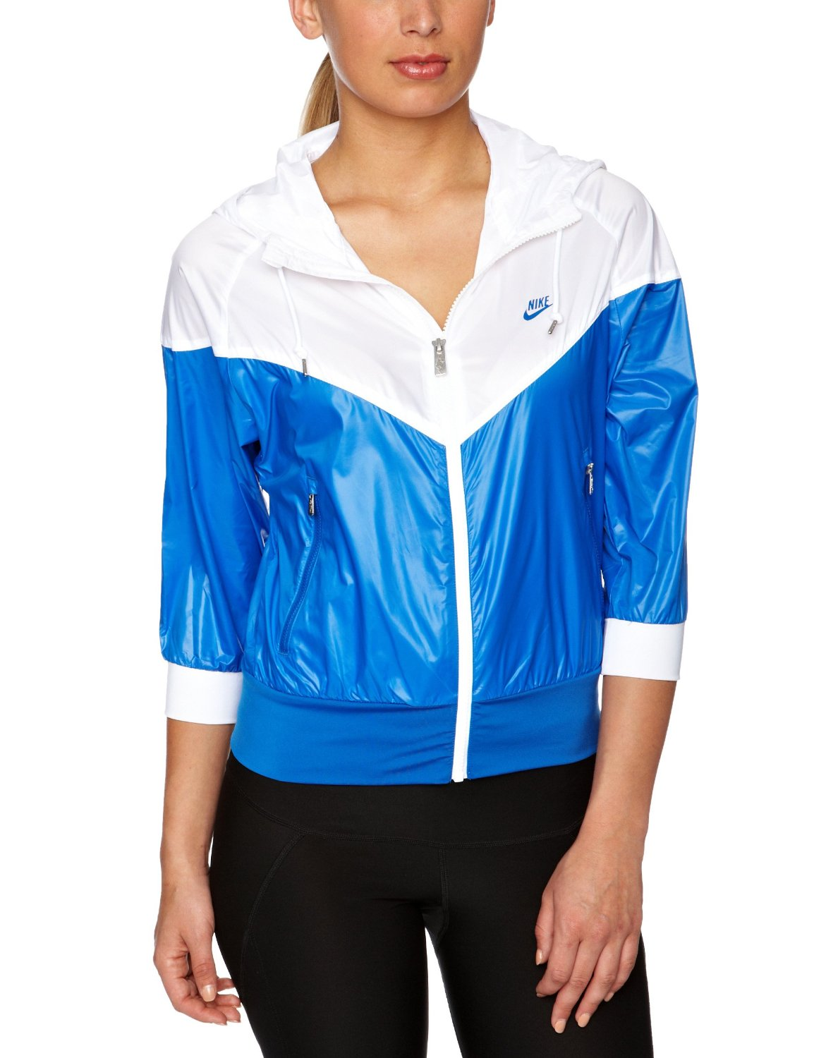 9909ab5d48 Blue and white Nike  Windrunner  rain jacket
