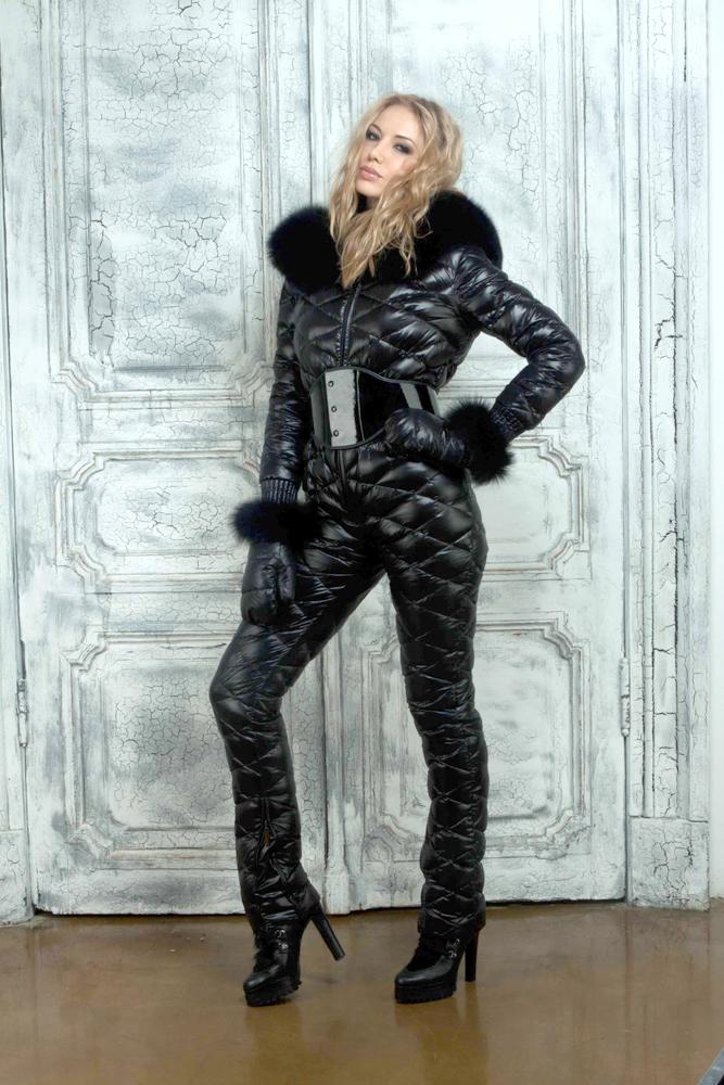 Black down suit