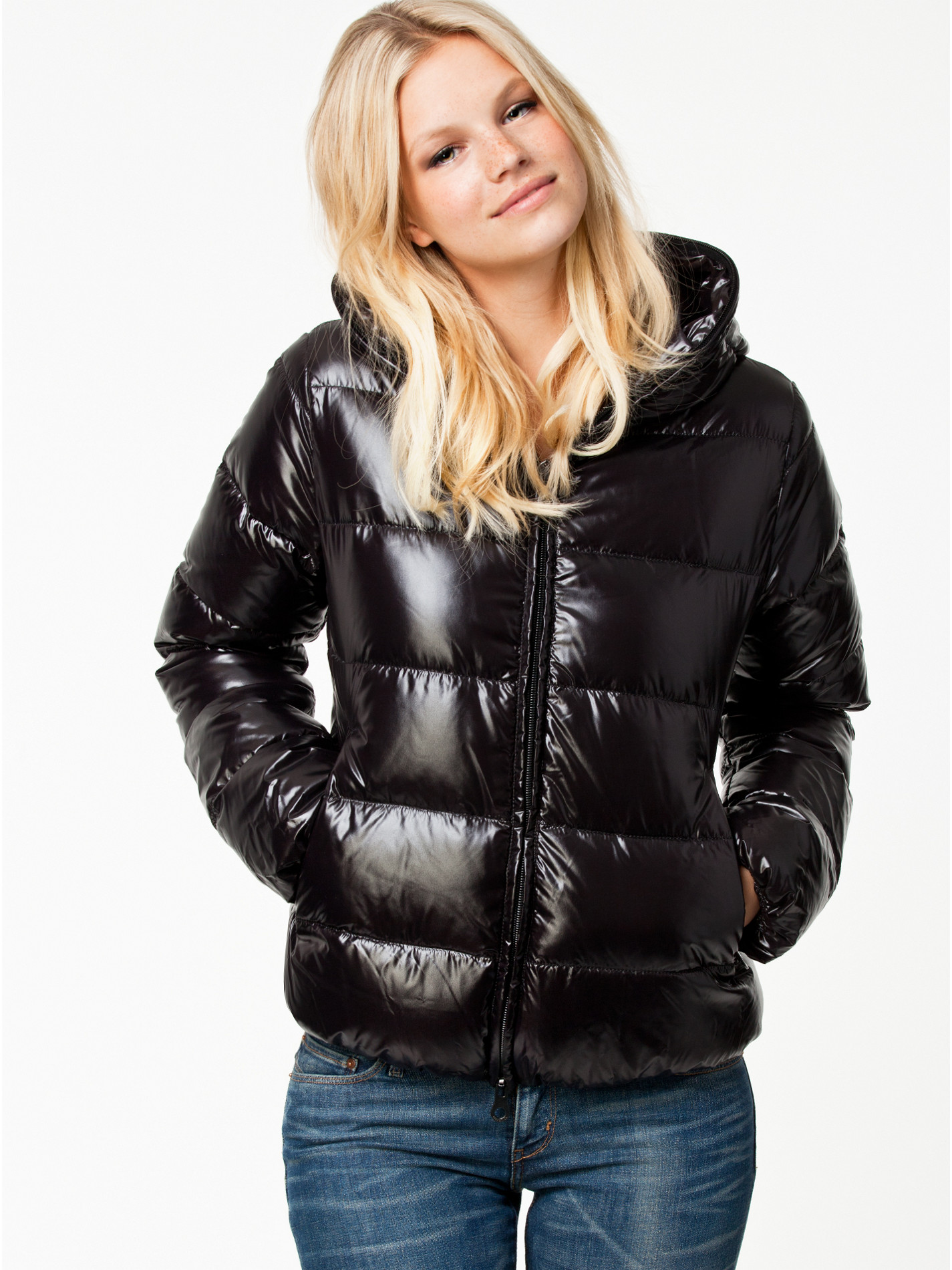 Black Duvetica 'Thiacinque' down jacket | SHINY NYLON