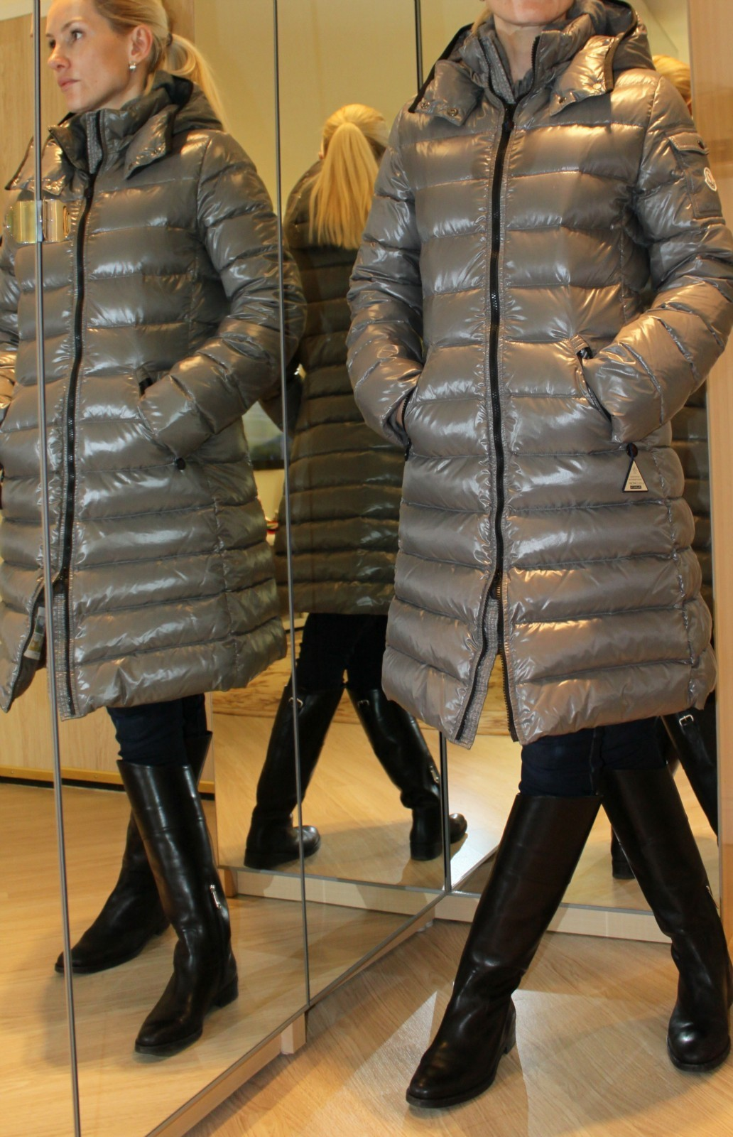 moncler grey down jacket