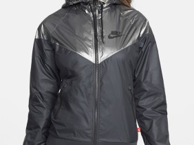 71f911896608 Black and silver Nike  Windrunner  rain jacket