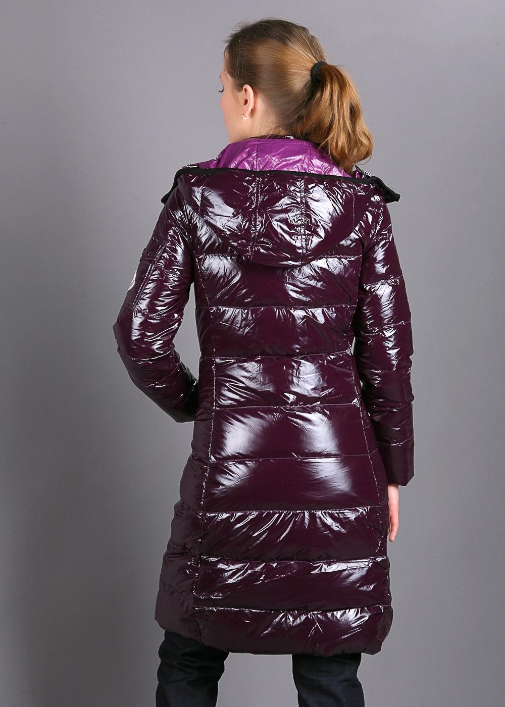 40b12a505 Burgundy Moncler down coat | SHINY NYLON