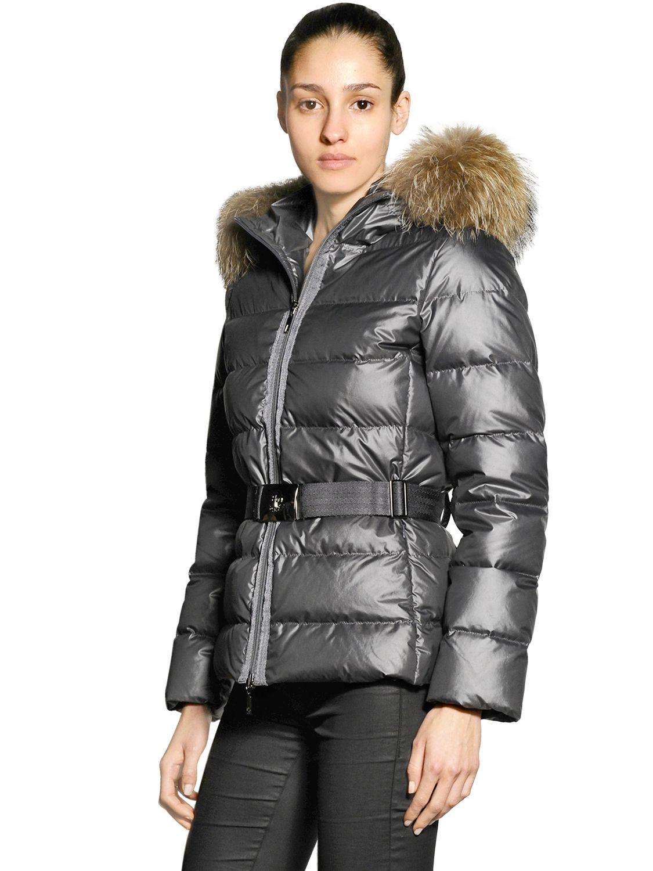5f51589a2 Silver Moncler 'Angers' down jacket   SHINY NYLON