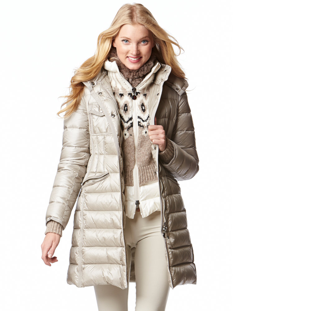 Beige Moncler down coat