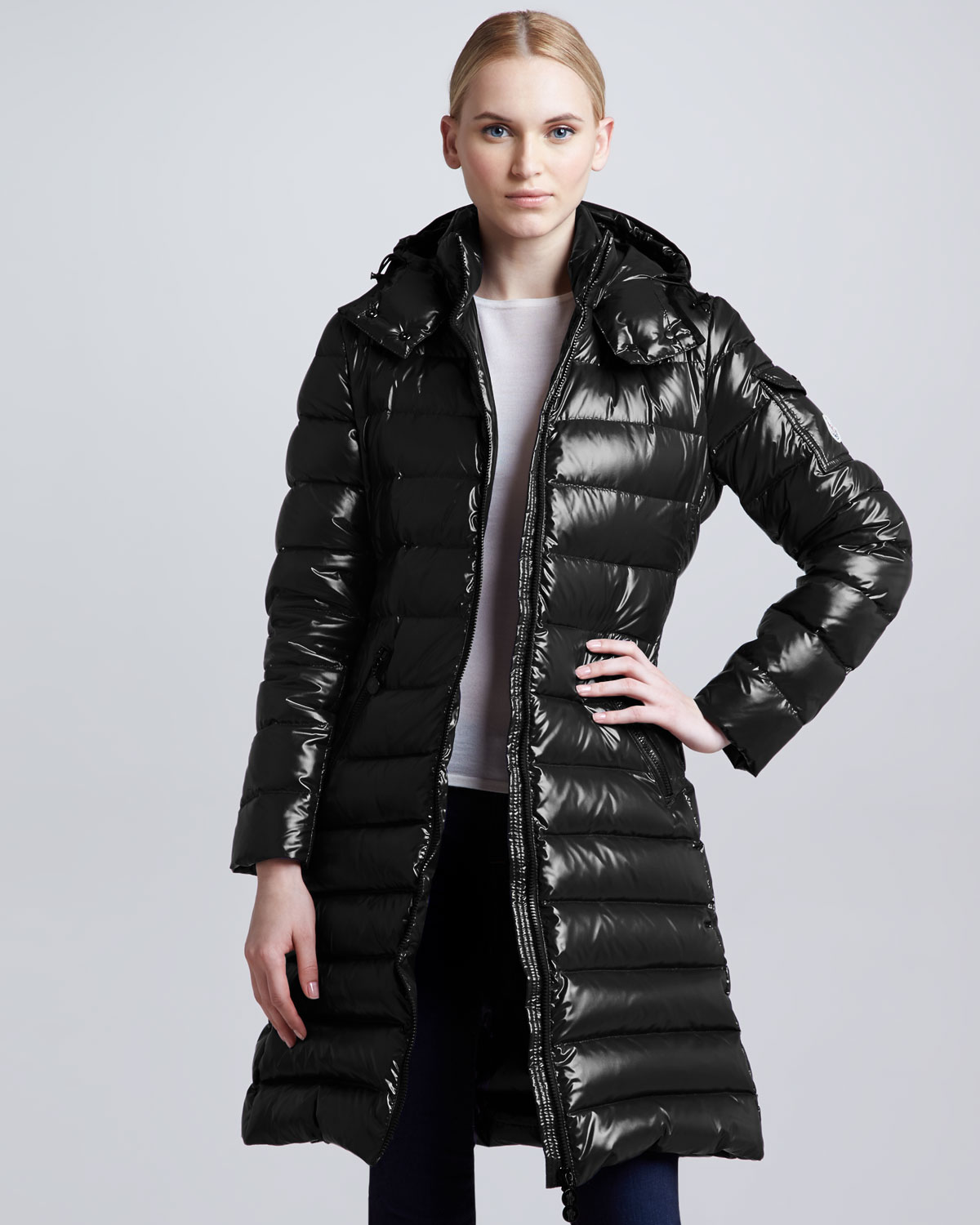 Black Moncler 'Moka' down coat