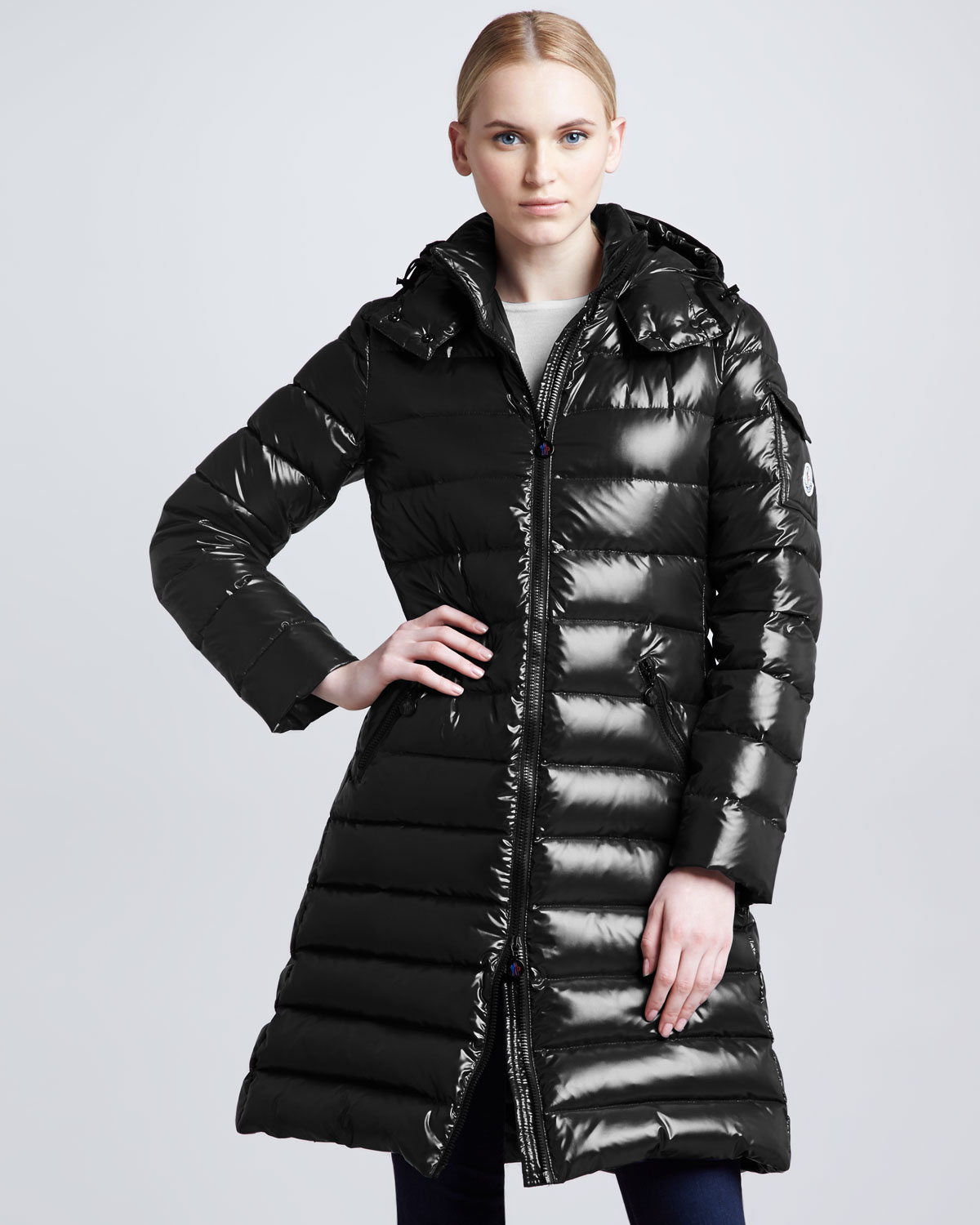 Moncler moka coat black